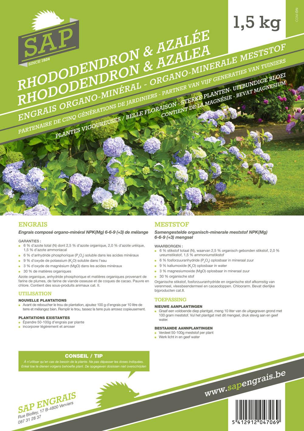 Engrais SAP Rhododendrons et azalées 1kg