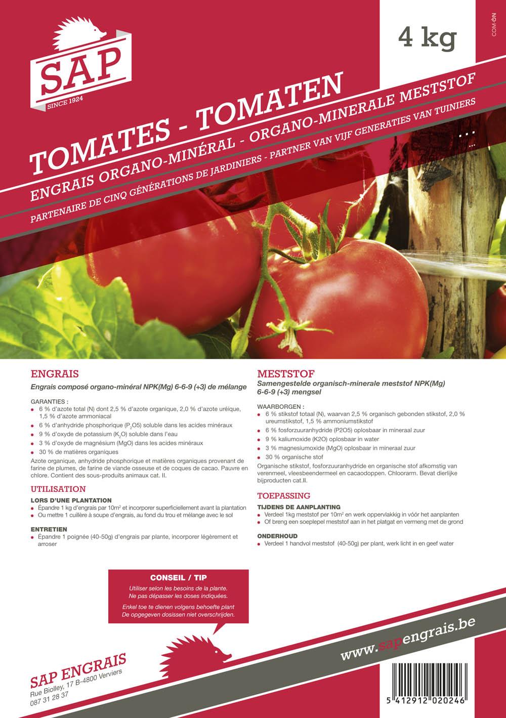 Engrais SAP Tomates 4kg