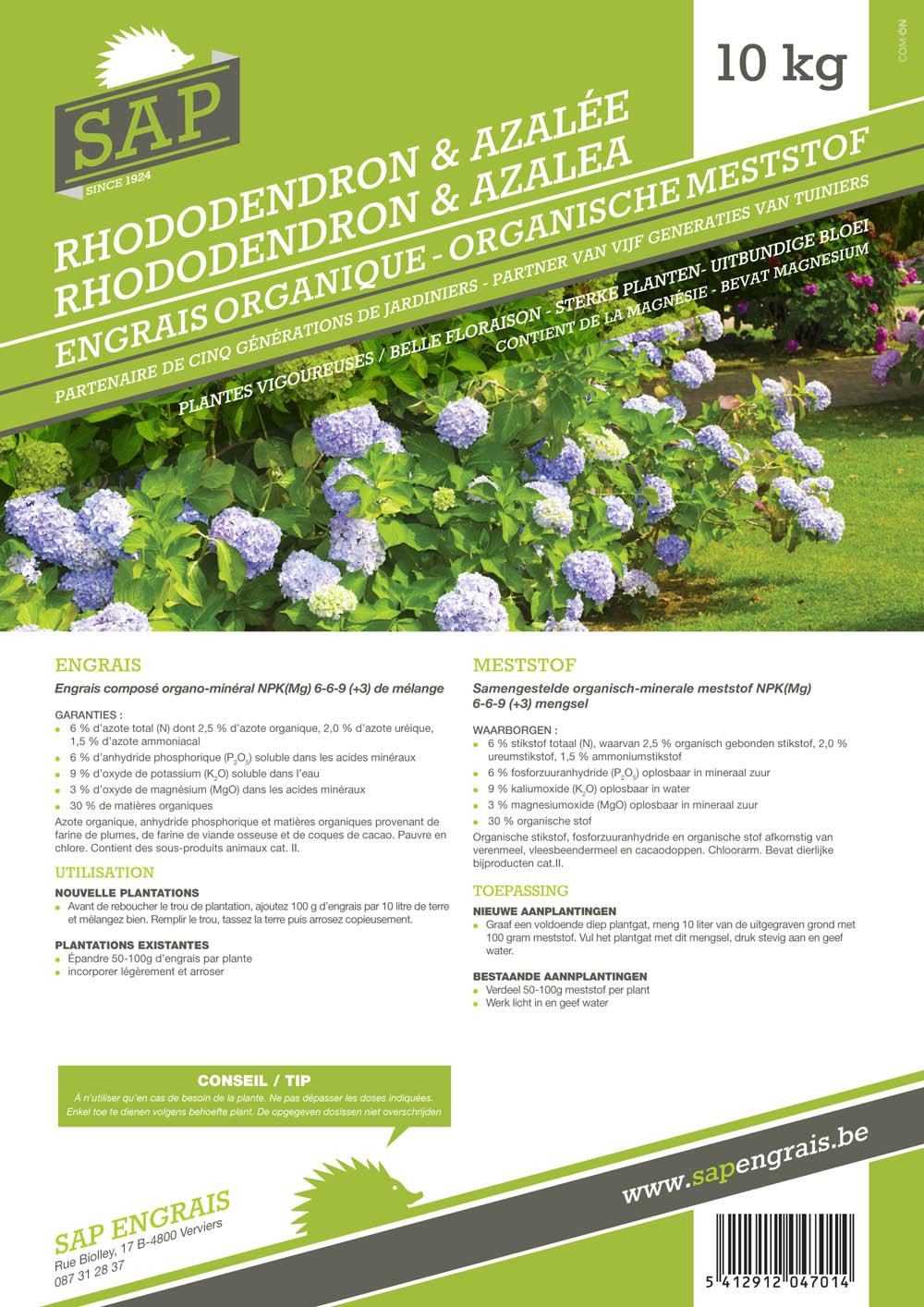 Engrais SAP Rhododendrons et azalées 10kg
