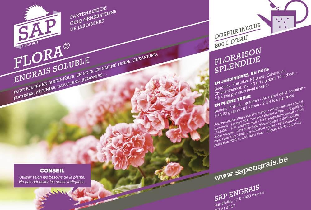 engrais soluble SAP Flora pot