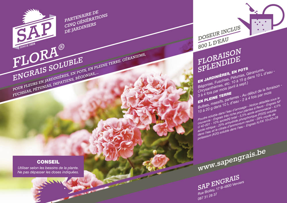 engrais soluble SAP Flora pot