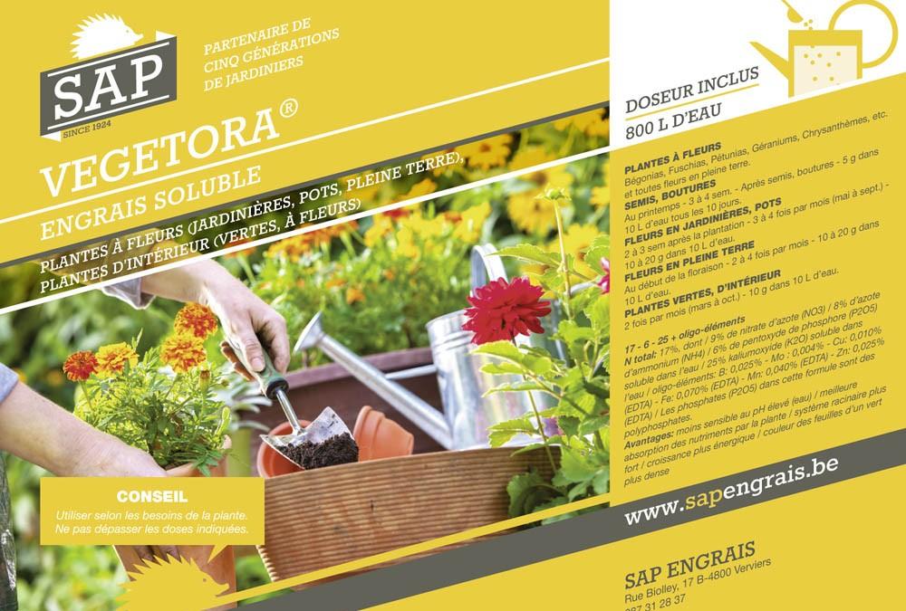engrais soluble SAP vegetora pot